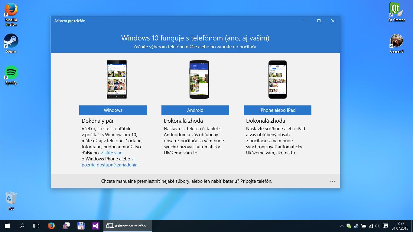 Windows 10 myslí aj na majiteľov smartfónov a tabletov